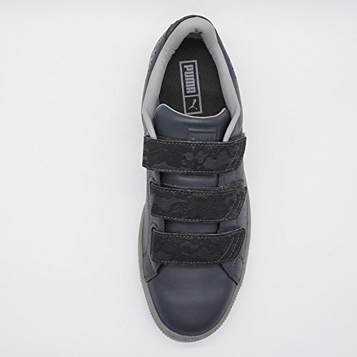 Puma Basket Strap Gray FM Damen Sneaker Grau Übergrößen
