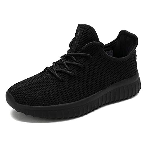 DREAM PAIRS Women's 170726_2_W All Black Fashion Sneakers Lightweight Breathable Mesh Walking Gym Running Sport Shoes 5 M US