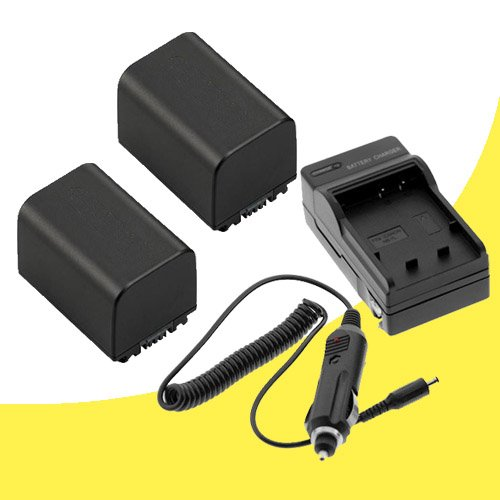 Panasonic HDC-TM700 Digital Camcorder TWO VW-VBG260 Batteries and Wall Charger with Car Charger Adapter DavisMAX HDCTM700 VBG260 Battery Charger Bundle