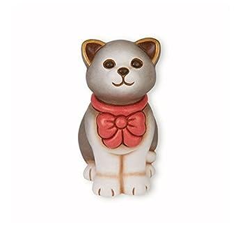 Thun Gatto Piccolo Con Fiocco Rosso Ceramica H 10 Cm Amazon It