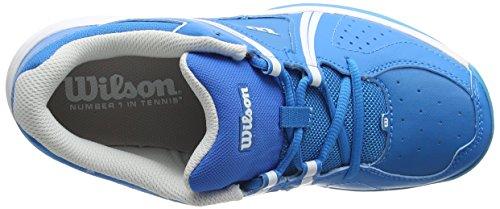Wilson WRS322310E105, Zapatillas de Tenis Unisex Niños, Azul (Methyl Blue / White / Hawaiian Ocean), 28/29 EU