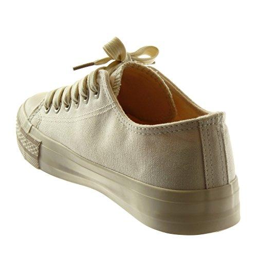 Tacco Pastello Tacco Beige Moda Angkorly cm Scarpe Sneaker Tennis 1 Donna 5 Piatto xZwY6RXqT