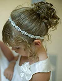 Missgrace Flower Girl Rhinestone Crystal Headband Baby Headbands Gatsby Headband Wedding Hair Accessories for Festival,Special Holiday,Halloween
