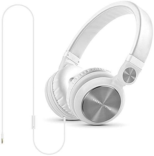 Energy System Energy DJ2 - Auscultadores supra-aurais com microfonoe - no ouvido - com cabo - macaco de 3,5 mm - branco