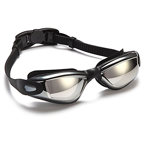 Adult Standard Goggles (Siren Anti-Fog Adult Swimming Goggles with Nose Clip and Ear Plugs in Protective Case)