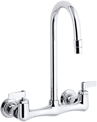 Kohler K-7320-4-CP Triton Utility Sink Faucet with Lever Handles, Polished Chrome