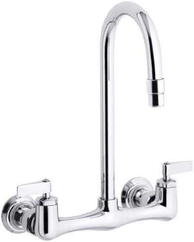Kohler K-7320-4-CP Triton Utility Sink Faucet with Lever Handles, Polished Chrome ()