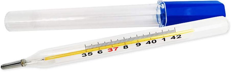 Pr/äzise Messung Klare Messwerte Unterarmtemperaturmessung Schalenschutz Quecksilberthermometer f/ür Erwachsenes Kind Krankenhaus Hohe Pr/äzision Glasthermometer Thermometer