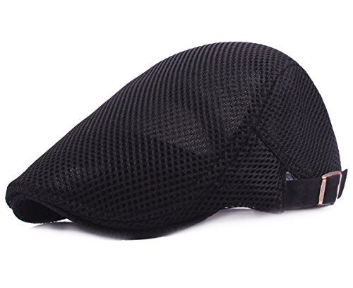 - Men Breathable Mesh Summer Hat Newsboy Beret Ivy Cap Cabbie Flat Cap