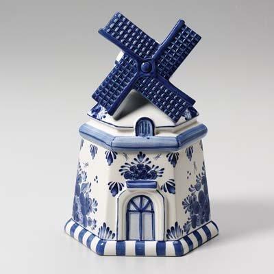Windmill Delft Cookie Jar (Delft Pottery)