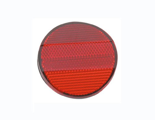 Red Rear Reflector. Bike part, bicycle part, bicycle reflector, bike reflector, lowrider bike part, lowrider bicycle part, beach cruiser, bmx, chopper, stretch.