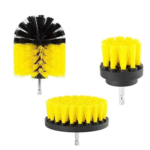 Drill Brush Electric Drill Attachment Brush for Sinks Tub Tiles Floor Corners All Purpose Power Scrubber Cleaning Kit by Onepalace