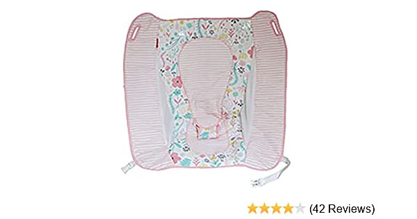 Replacement Pad for Fisher Price Auto Rock N Play Sleeper Pink Flowers  (Model DTG91)