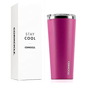 Corkcicle Tumbler-Waterman Collection-Triple Insulated Stainless Steel Travel Mug, 24 oz, Waterman Pink