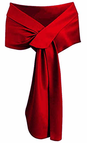 LHY Costumes Satin Shawl Wrap For Evening Party (Burgundy)
