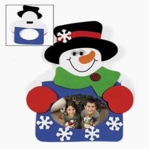 Amazon.com: Snowman Photo Frame Magnet Craft Kit (12 Count