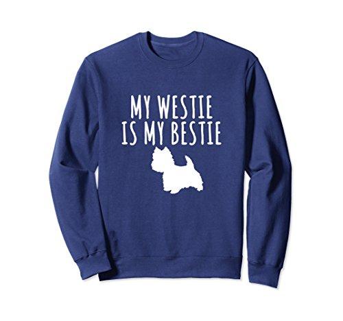(Unisex My Westie Terrier Is My Bestie Dog Lover Sweatshirt 2XL Navy)