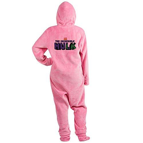 CafePress The Incredible Hulk Novelty Footed Pajamas, Funny Adult One-Piece PJ Sleepwear Pink -
