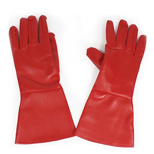 Costume Gloves Red (Red) -