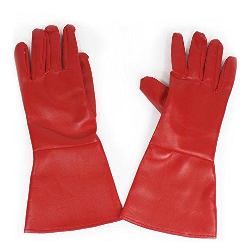 Largemouth Costume Gloves Red