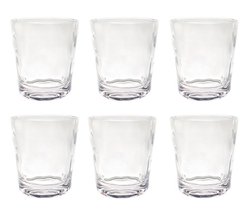 QG 14 oz. Acrylic Plastic Double Old Fashioned Tumbler Set of 6 Clear CG142-CL