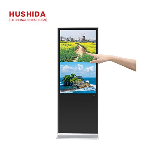 - HUSHIDA 49-inch Interactive Digital Signage LCD Plane 1080p Floor Standing Kiosk 4k Full HD with 10-Point Infrared Touch Screen for Display Monitor