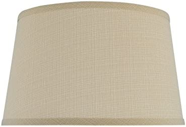 Aspen Creative 32231 Transitional Hardback Empire Shape Spider Construction Lamp Shade in Sand, 14 wide 12 x 14 x 8 1 2