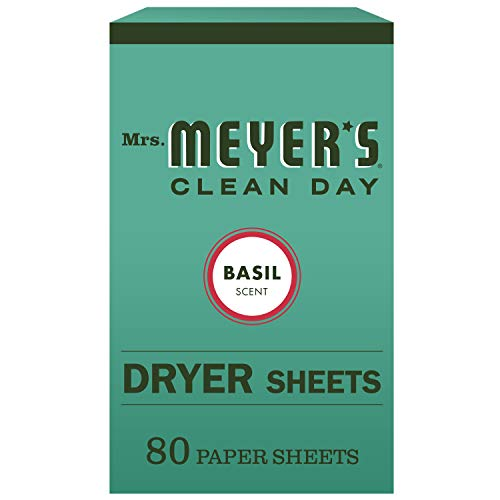 Mrs. Meyer's Clean Day Dryer Sheets, Basil, 80 ct ()
