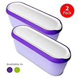 : SUMO Ice Cream Containers · Insulated Ice Cream Tub · Container Ideal for Homemade Ice-Cream, Gelato or Sorbet · Dishwasher Safe · 1.5 Quart Capacity · [Purple, 2-Pack]