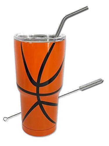 Basketball Tumbler Cup 30oz Gift for Mom Men Women Coach (Basketball)