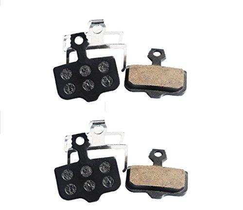 Resin Organic Semi-metal Brake Pads for Avid Elixir R Cr Mag 9 7 5 3 1 Xx X0 World Cup, Noise Control, Smooth Braking, Long Life, Kevlar, Copper, 2 Pairs
