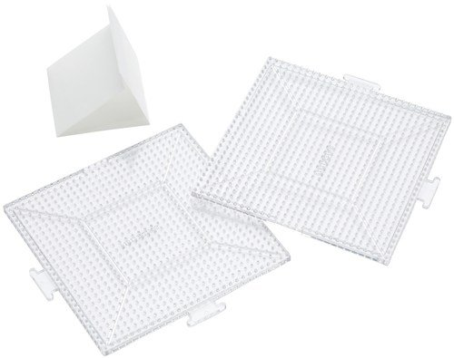 Perler Replacement Pegboards 2Pkg-Large Clear Square