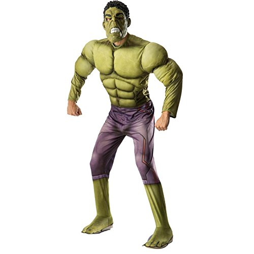 Rubie's Costume Co Men's Avengers 2 Age Of Ultron Adult Deluxe Hulk Costume, Green, (Hulk Costumes Deluxe)