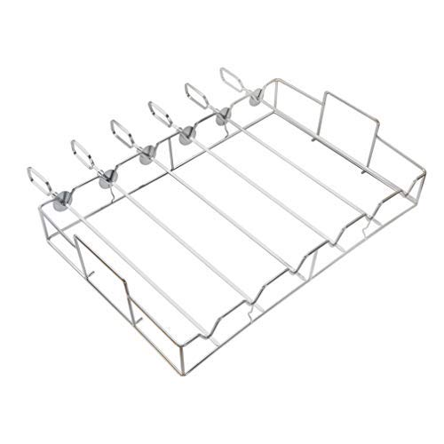 only fire Barbecue Shish Kabob Set Stainless Steel Skewer and Grill Rack Set for Cooking on Gas or Charcoal Grill, - Kabob Set