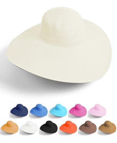 Nollia  Big Beautiful Solid Color Floppy Hat