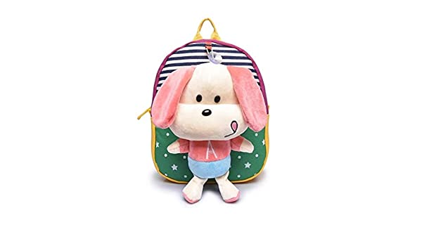 Amazon.com: Jewh Plush Backpack Toy Bear Children Backpack Dolls&Stuffed Toys Baby Hello Kitty School Bags Kids Baby Boy Bags Mochila 11-30cm (Dog Green): ...