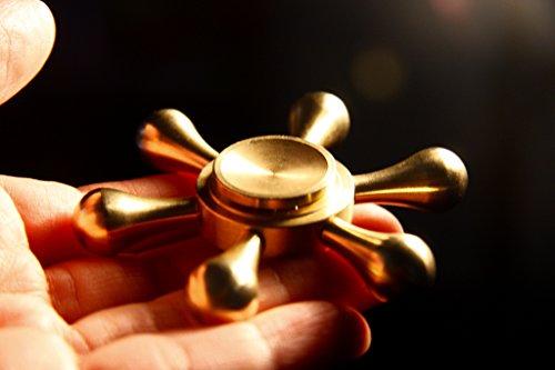 Hand Toy Copper Magnetic Fidget Spinner 6 Blades Remote Driv