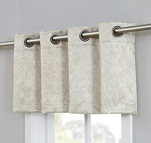 (AsaTex Loretta - Embossed Thermal Weaved Blackout Curtains Valance- Room Darkening & Noise Reduction Fabric - Blocks up to 97% of Sunlight - Premium Draperies (1 Valances 54
