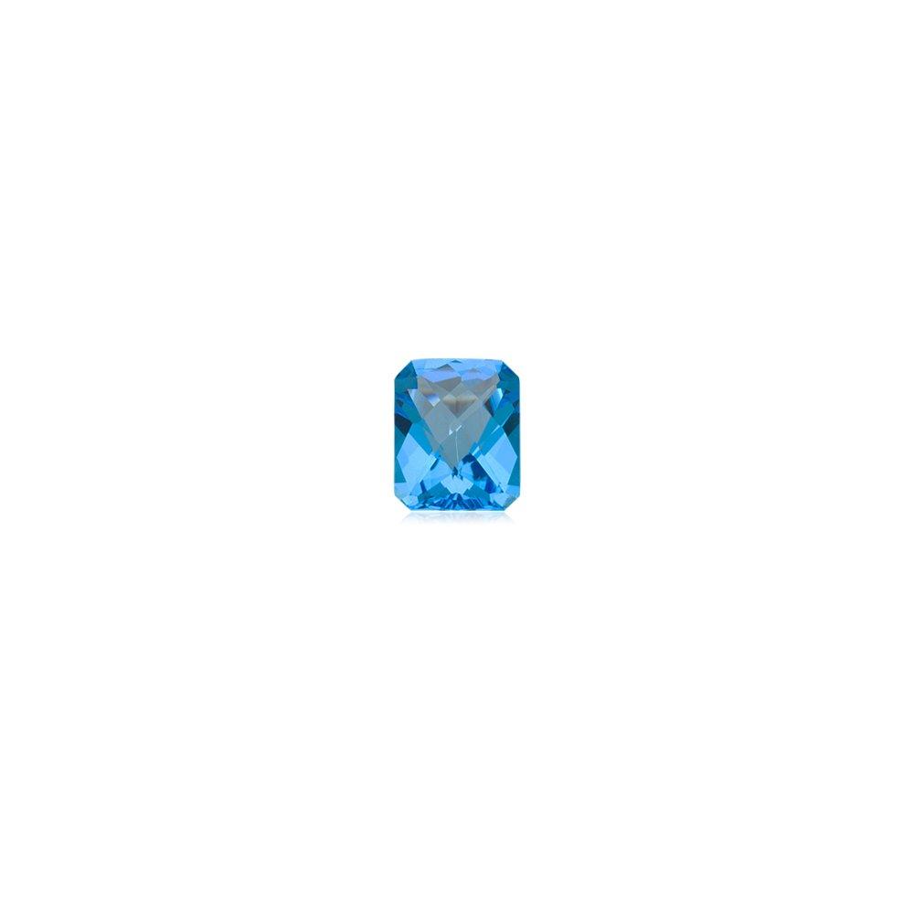 10.00 Cts of 14x12 mm AAA Emerald Loose Swiss Blue Topaz ( 1 pc ) Gemstone