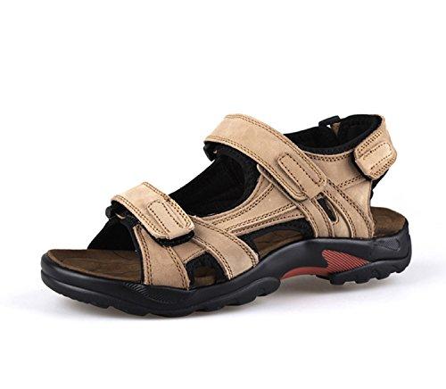 NANXIE Casual traspirante vera Sandali khaki Sandal Outdoor Pescatore da estate da trekking in Beach uomo antiscivolo Pantofole da pelle Men Scarpe Pakamo uomo TYqzrTw