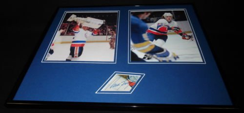 Mike Bossy Signed Framed 16x20 Photo Display NY Islanders Stanley Cup