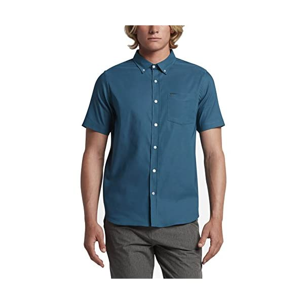 New-Hurley-Mens-Dri-Fit-One-Only-Ss-Shirt-Short-Sleeve-Blue