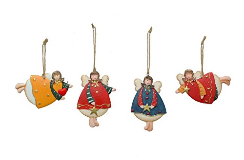 Wood Angels Ornaments - 8