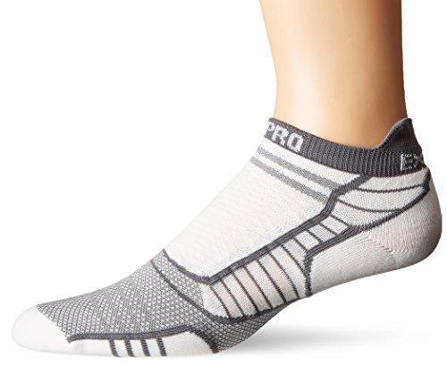 (Thorlos Experia Unisex Prolite XPTU Running Ultra Thin No Show Tab Sock, Grey, Medium)