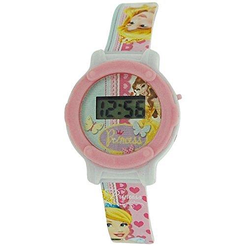 Disney Princess Kids Digital LCD Display PU Buckle Strap Watch ()
