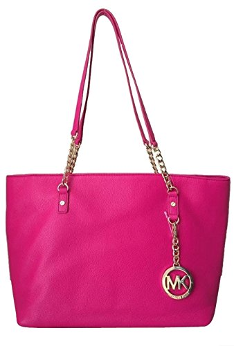 0504bb95bedd Amazon.com  Michael Kors Jet Set East West Chain Tote Raspberry  Shoes