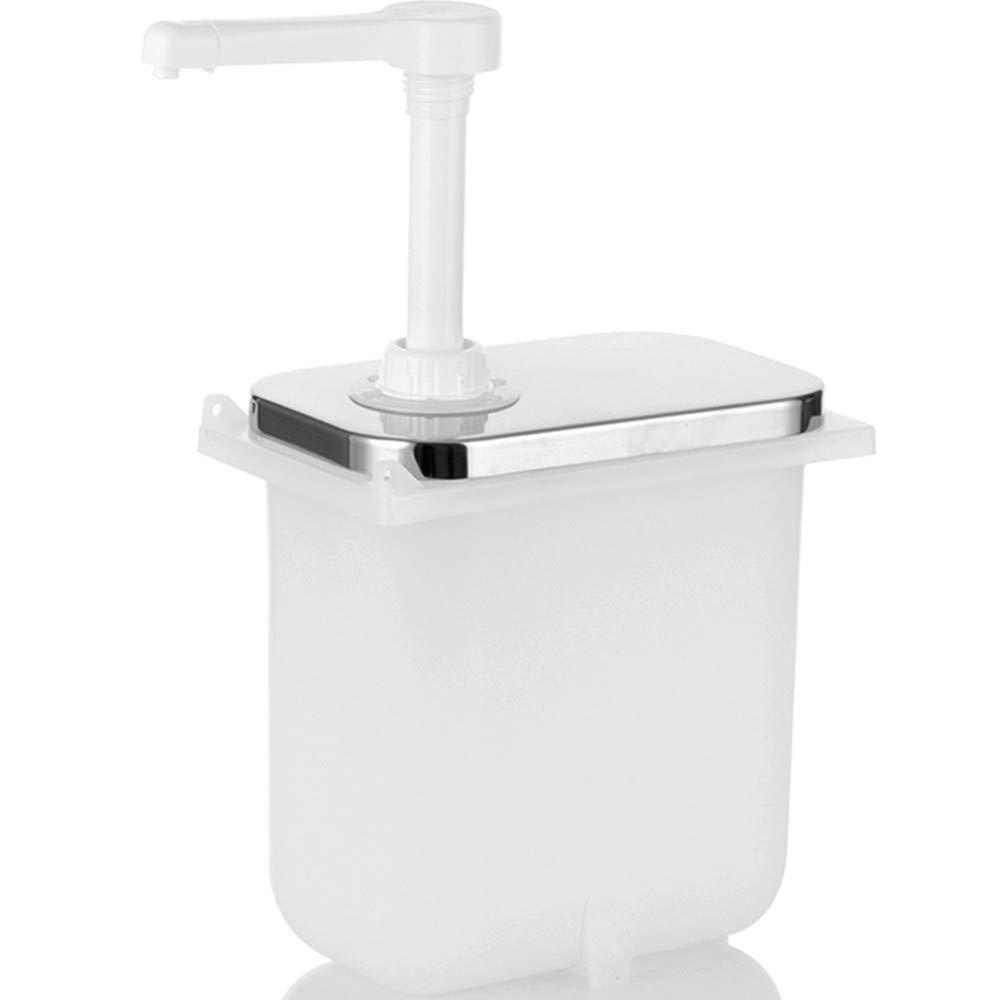 YJINGRUI Bucket Sauce Dispenser Pump Squeeze Condiment Dispensing Machine Chocolate Sauce Jam Filler with Pump Head (2L Plastic Pump Head)