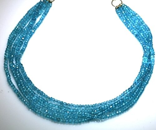 - Apatite Necklaces 4 Strands Fine Brazilian Apatite Beads Beaded Necklace 17