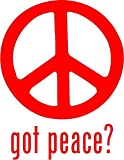 Got Peace Symbol Vinyl Decal Sticker- 8