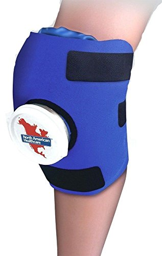 Knee Ice Pack Bag Wrap Compression Adjustable Cold Therap...